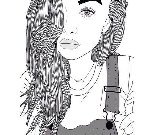 black, girl, outlines, pretty, tumblr