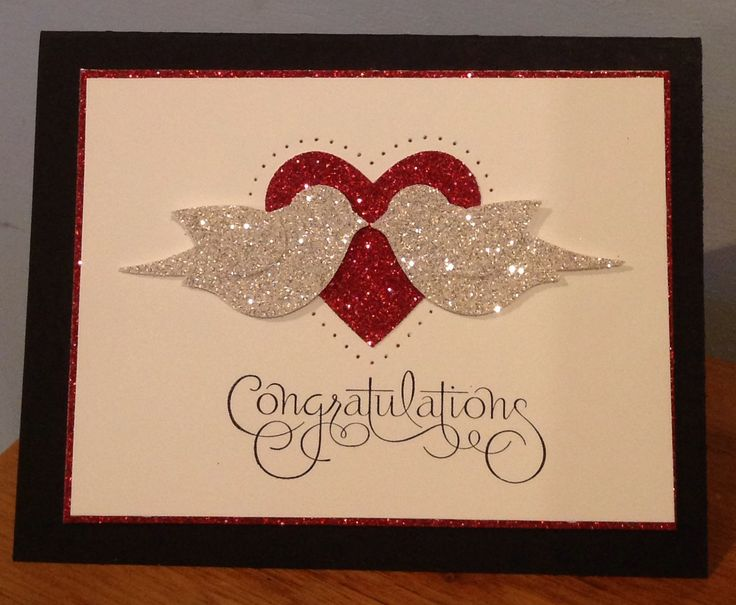 gorgeous card for valentines or wedding