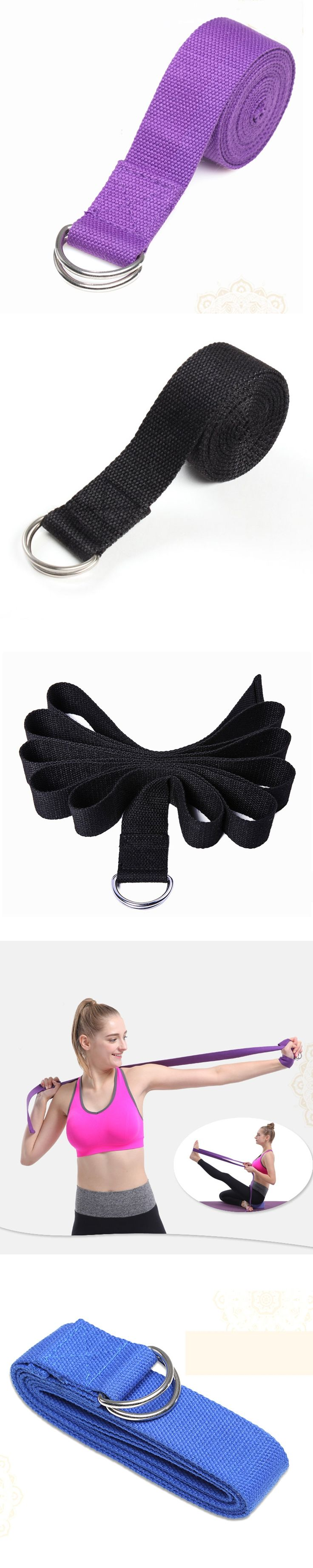 Fitness Yoga Belt Stretch Strap D-Ring Exercise Gym Rope Figure Waist Leg Resistance Fitness Yoga Bands