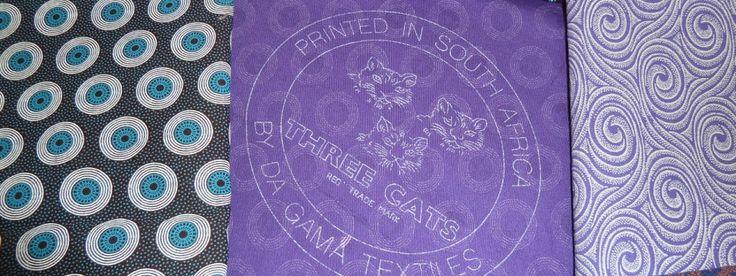 Meerkat Shweshwe Fabrics.  The three cats back stamp proves authenticity.
