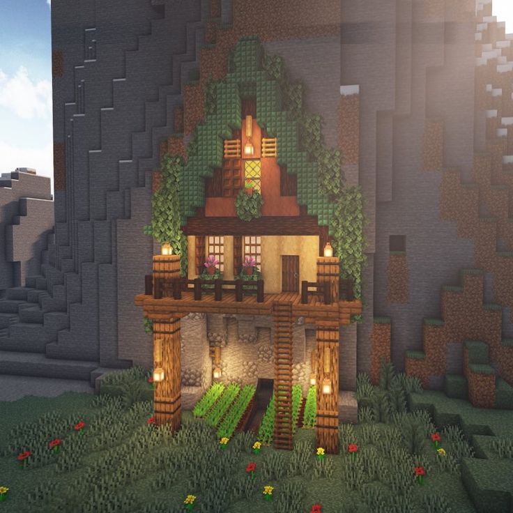 Mountain Side House  Wanna Learn How I Did The Ladder Trick  Let Me Know In The Comments Below