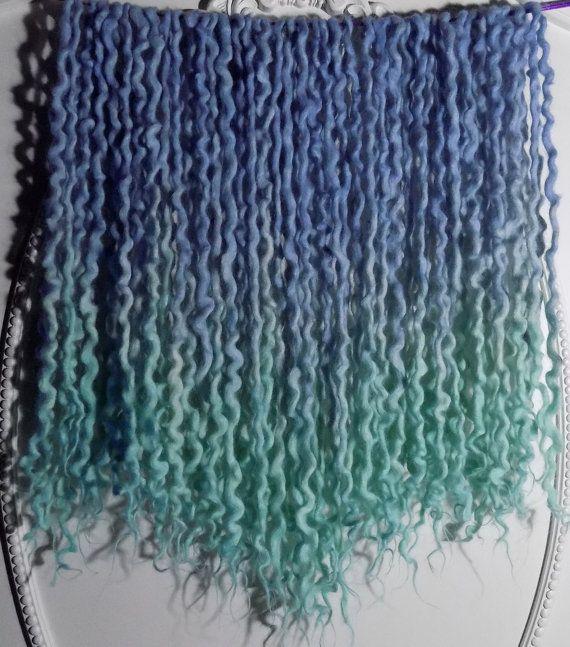 40DE Fairy UV Wool Dreads by Cheyenne Le Hale  (NVCL3ARBVTT3RFLY) #woolies #wooldreads #curlydreads