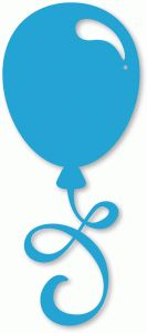 Silhouette Online Store - View Design #58813: balloon flourish