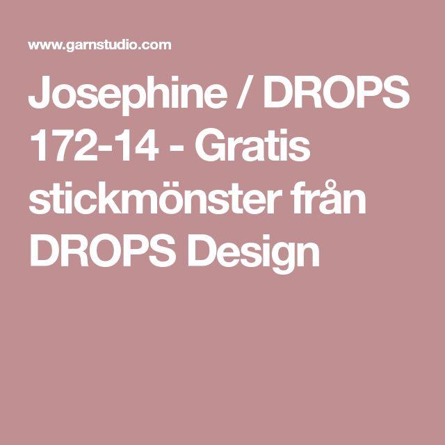 Josephine / DROPS 172-14 - Gratis stickmönster från DROPS Design