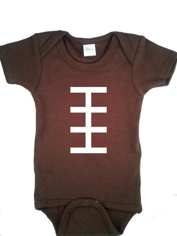 Football onesie: Football Onsi, Football Onesie, Football Seasons, Baby Football, Football Baby, Football Fans, Baby Boys, Baby Onesie, Baby Stuff