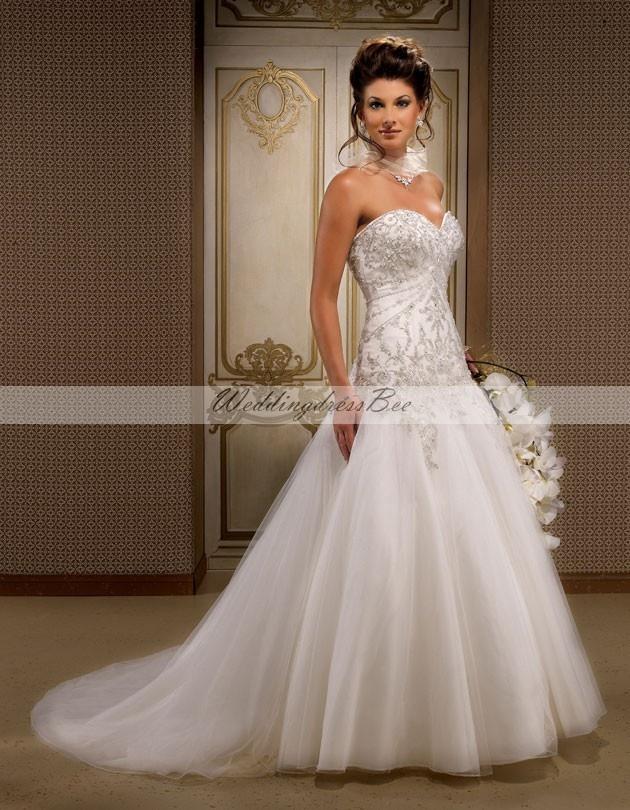 Gorgeous sleeveless ball gown floor-length wedding dress. I LOVE THIS DRESS!!!