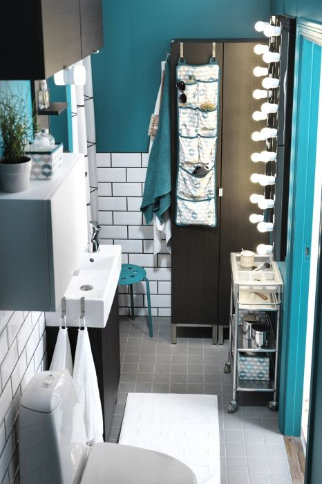 Great Mix Of Neutrals U0026 Bold Color For A Half Bath. Part 77