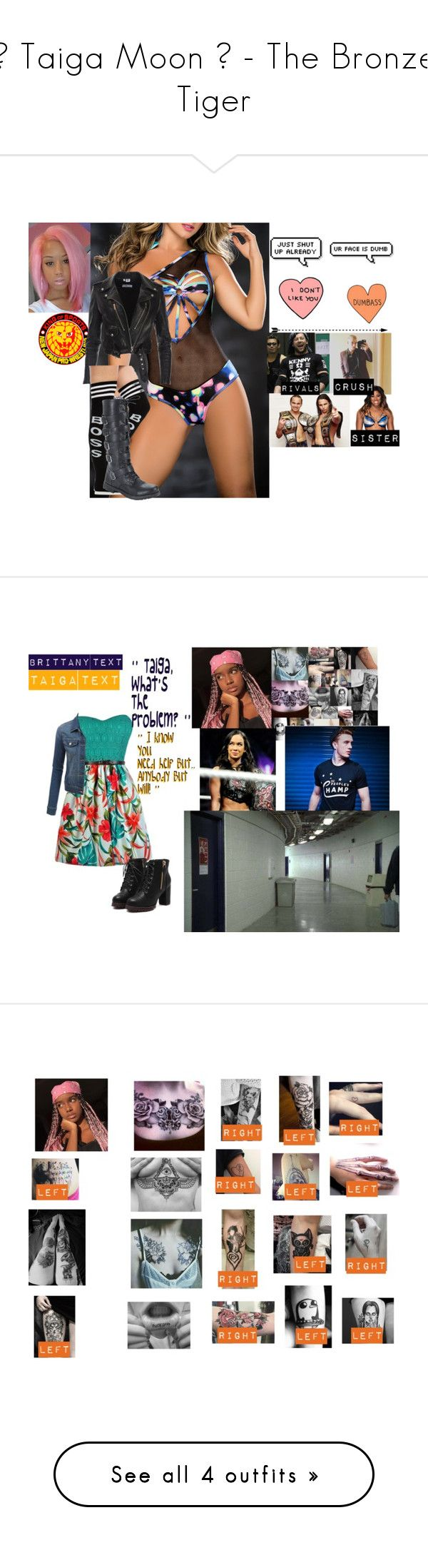 """🐯 Taiga Moon 🐯 - The Bronze Tiger"" by iron-maiden-amy ❤ liked on Polyvore featuring Mapalé, KENNY, WWE, Hot Topic, wweoc, wweattire, wweocattire, LE3NO, art and Dolce Vita"