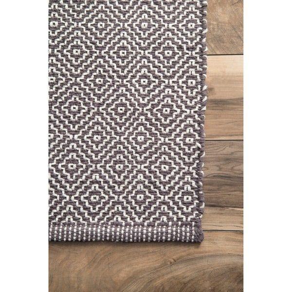 NuLOOM Handmade Flatweave Diamond Cotton Rug (5u0027 X ...