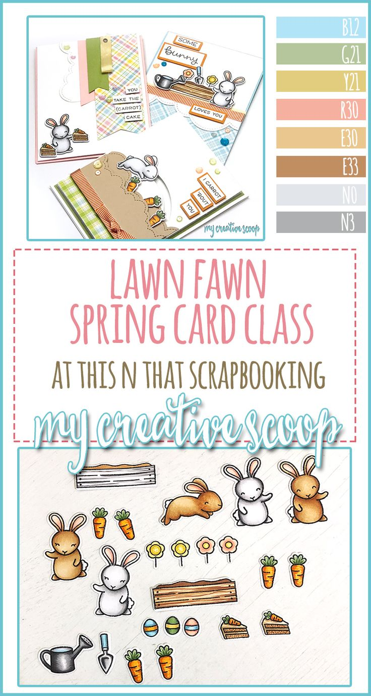 Lawn Fawn Easter Spring Cards
