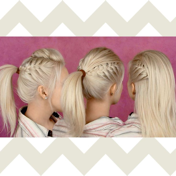 Competition hairstyle #cheerleading #cheerhair #braid #ponytail