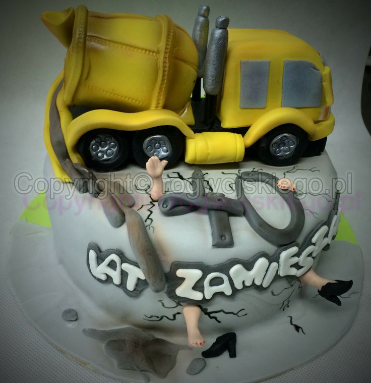 tort betoniarka, concrete mixer cake, pracownia tortów gdańsk, torty artystyczne gdańsk, pomysł na prezent