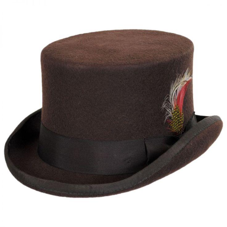 Mid Crown Wool Felt Top Hat