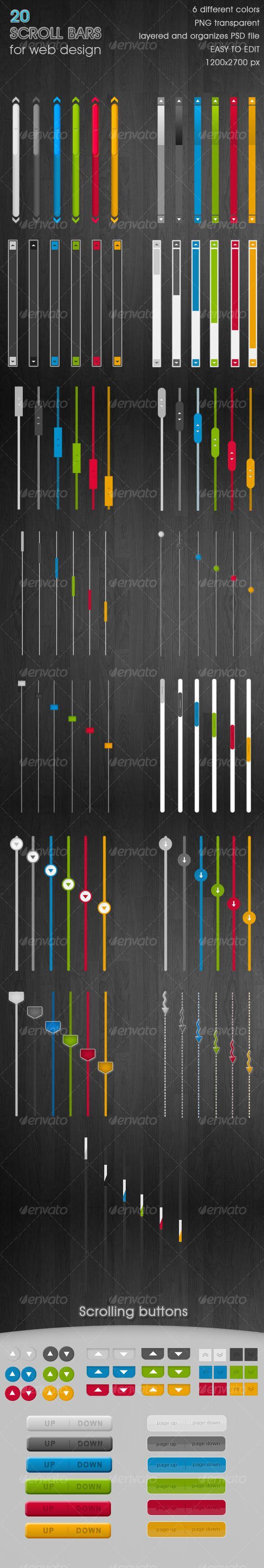 20 cool Scroll Bars - 6 colors