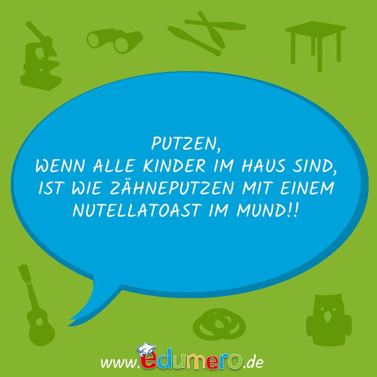 Wann putzt Ihr Euer Haus?  #edumero #einfachspielendlernen #edumerokindersprüche #edumeroquotes