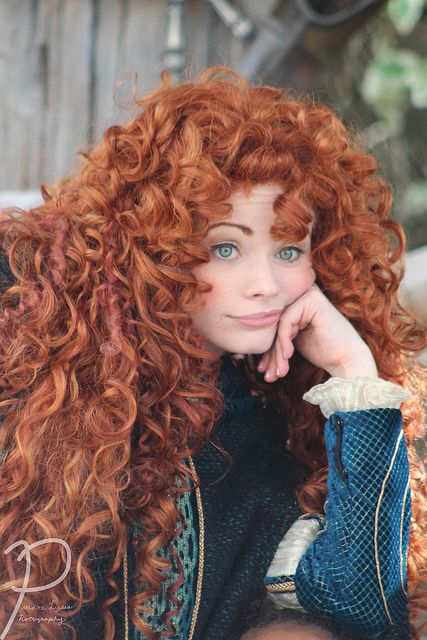 Merida from Brave @Marissa Thompson that's because I said if Wes's and my kids got both of our hair that's what it would look like! lol