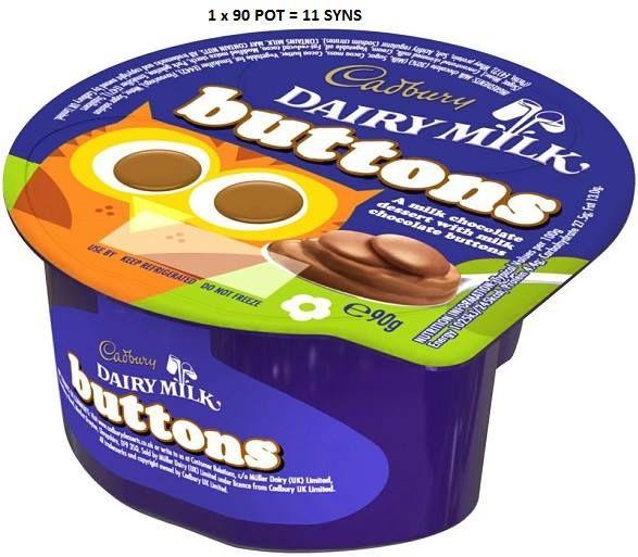 Cadbury chocolate buttons yogurt - slimming world Syns