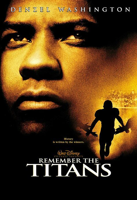 One of my favorite movies of all time. Directed by Boaz Yakin.  With Denzel Washington, Will Patton, Wood Harris, Ryan Hurst. The true story of a newly appointed African-American coach and his high school team on their first season as a racially integrated unit.