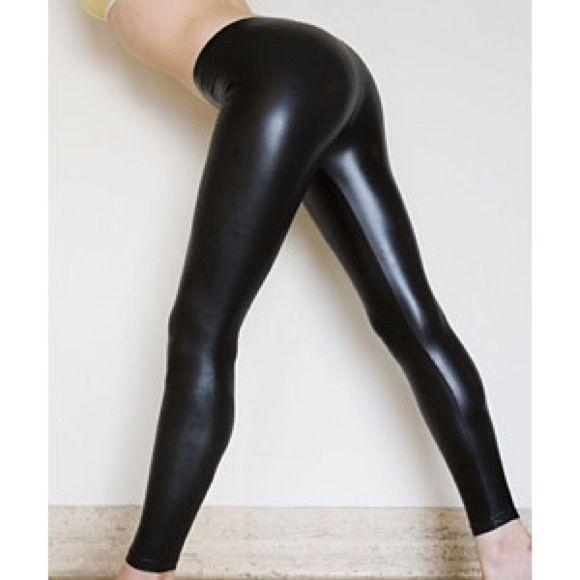 American apparel wet look leggings black Black shiny wet look leggings by American apparel size medium. No damage worn once. Open to reasonable offers, super stretchy! American Apparel Pants Leggings