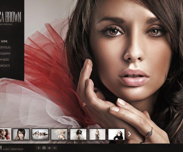 Monica Brown Website Templates by Hinoriko