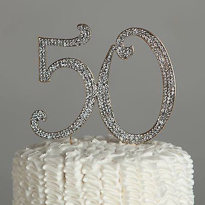 Cake Toppers – 50 Cake Topper – Or   – Party ideas