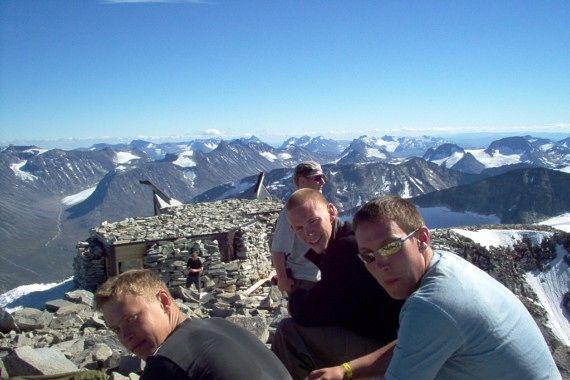 Galdhøpiggen, the highest mountain in Norway (2469 m.)