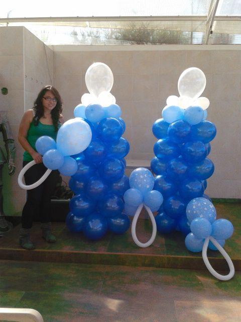 7 best images about decoraci n en globos baby shower on - Adornos baby shower nino ...