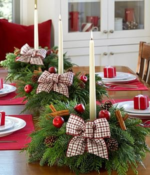 Christmas Country Collections Centerpieces, send cheap flowers online