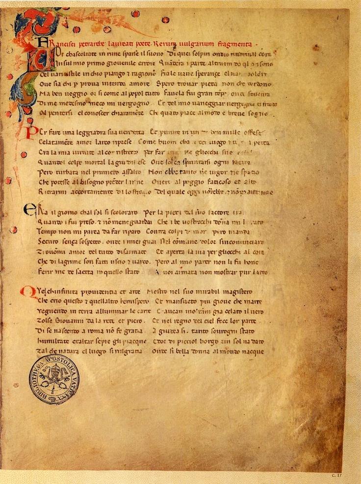 F. Petrarca - Il canzoniere