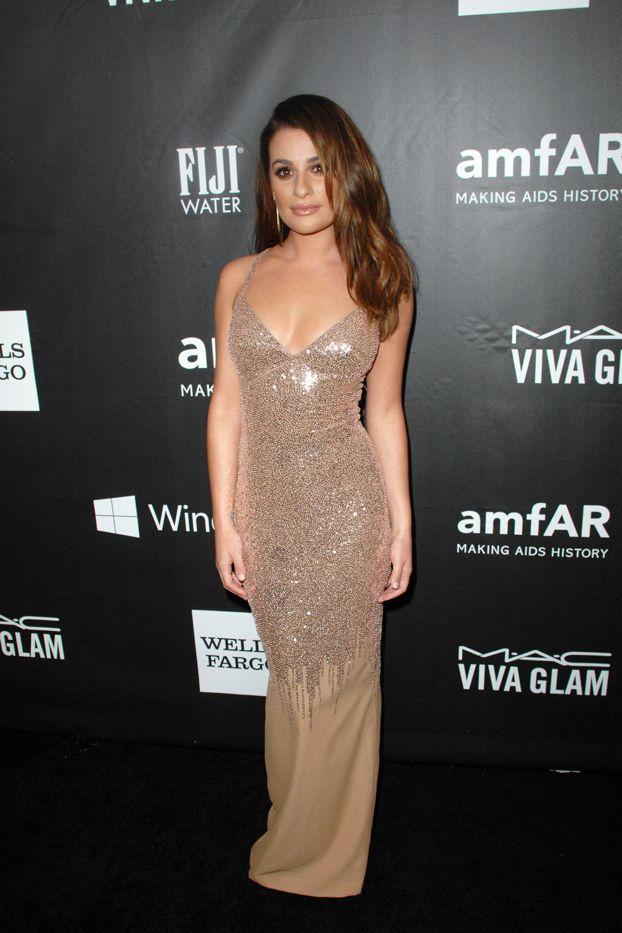 Lea Michele amfAR Inspiration Gala