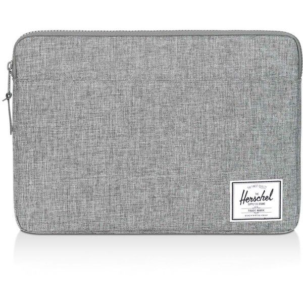 Herschel Supply Co. Anchor Laptop Sleeve ($40) ❤ liked on Polyvore featuring men's fashion, men's accessories, men's tech accessories, grey and floral laptop case