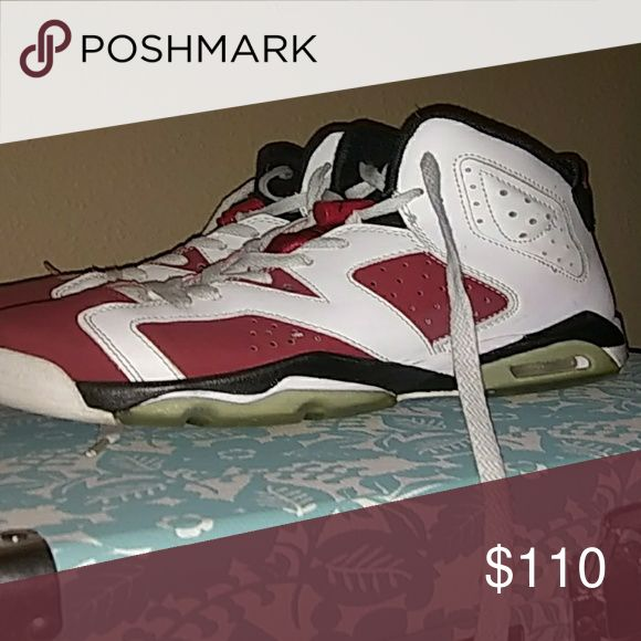 Im selling red and white jordans size 6 Size 6 red and white worn once Shoes Sneakers