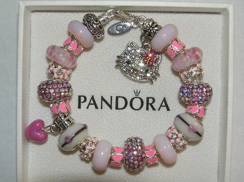 #HelloKitty Charms for Pandora Bracelets | jewelry pink girly hello kitty sanrio bracelet pandora ...