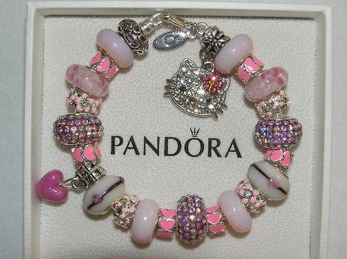 Hello Kitty Charms for Pandora Bracelets | jewelry pink girly hello kitty sanrio bracelet pandora ...