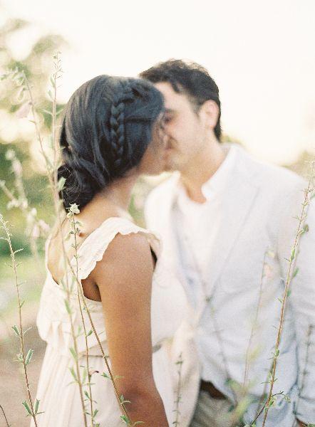 Wedding hair, both in white