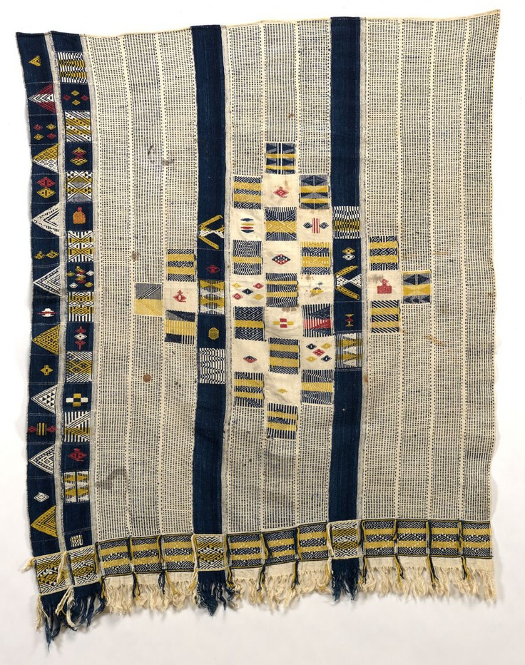 Africa   Woman's Wrapyper from the Ivory Coast   Cotton, supplementary weaving   Collected between 1919 and 1930