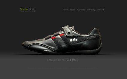 ShoeGuru creative #ecommerce web design by Techidea