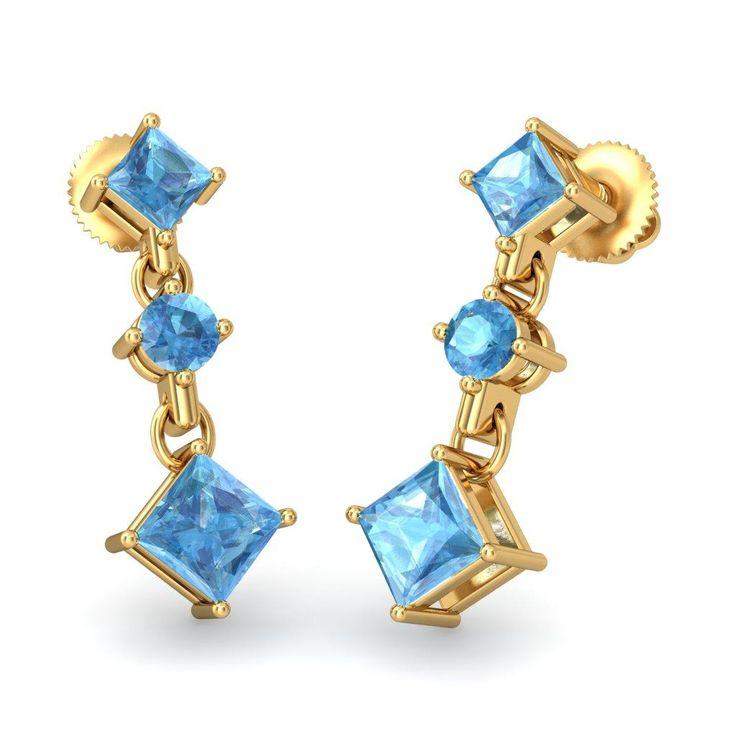 The Charis Earrings #BlueStone.com #Beauty #Jewellery #Blue #Alluring #Classic #Jewellery #Style #Fashion #Jewelry #Diamond