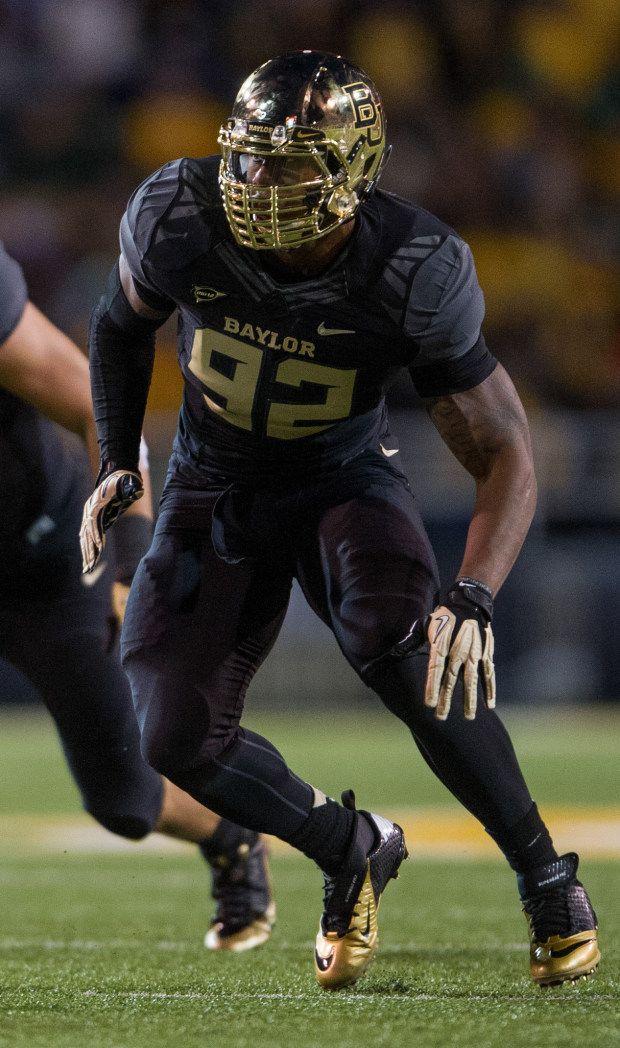 2013 Baylor Bear Black Nike Uniform with Gold Chrome Football Helmet