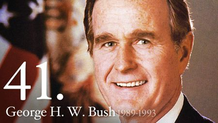 """George H. W. Bush - George Bush brought to the White House a dedication to traditional American values and a determination to direct them toward making the United States """"a kinder and gentler nation."""" In his Inaugural Address he pledged in """"a moment rich with promise"""" to use American strength as """"a force for good."""""""