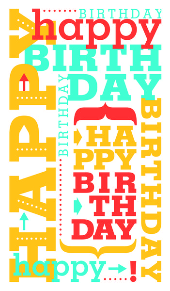 104 best birthday cards images on pinterest birthdays card shop preview image for product titled birthday typography bookmarktalkfo Gallery