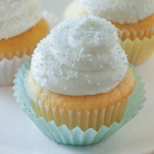 Vanilla Cupcakes | Williams-Sonoma  Simple ingredients, light and tasty cupcakes from scratch. Be sure to beat the whole egg and egg white separately until very light and frothy before adding to batter.