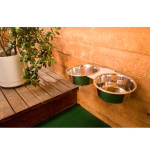Dog Food Bowl Attaches To Kennel