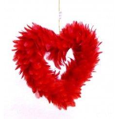 Serce z piór 20 cm