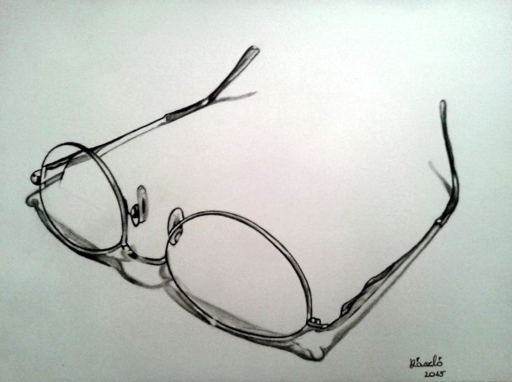 Mű címe: Szemüveg portré.  Grafit rajz Médium:A3 akvarell papír Ország: Magyarország Művész: Árgyelán László