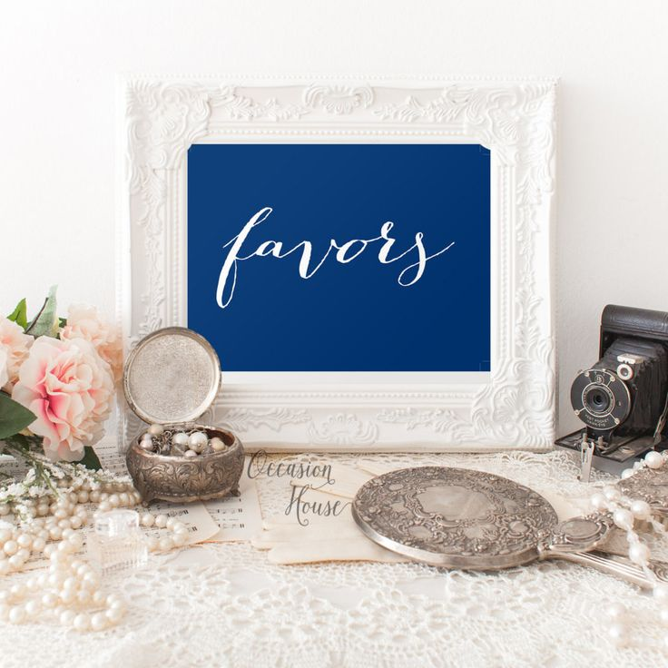 printable wedding place cards vintage%0A Printable Deep Navy Blue Favors Sign  Wedding Favors sign  favors sign   Reception sign
