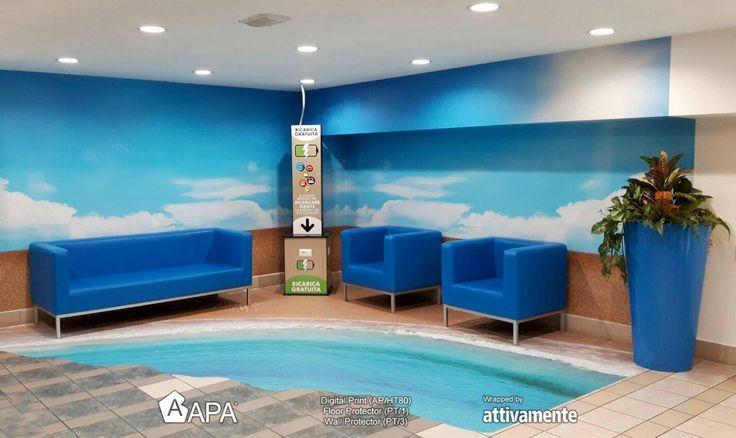 Digital Print (AP/HT80), Floor Protector (PT/1), Wall protector (PT/3): personalizzazione esclusiva su misura. Digital Print (AP/HT80), Floor Protector (PT/1), Wall protector (PT/3): exclusive and tailored customization. #selfadhesive #apastickers #apafilms #apafolie #apavinyl #digitalprint #floorgraphics #wallprotection #apainside