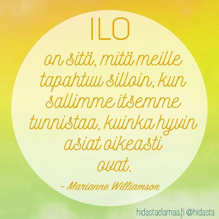 Iloa uuteen viikkoosi! 🌼💛☀️ #ilo #asiathyvin #oikeasti #iloisuus #asenneratkaisee #inspiraatio #motivaatio #maanantai #ihanaapäivää #mariannewilliamson