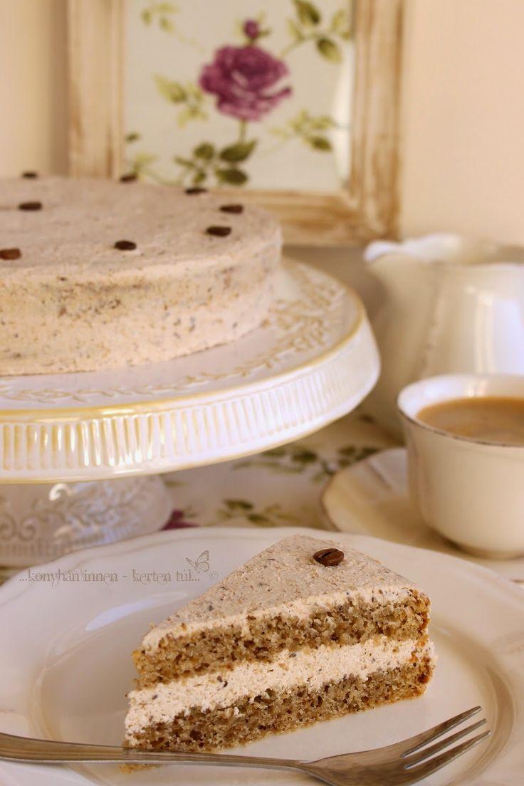 ...konyhán innen - kerten túl...: Gesztenyekrémes kávés torta