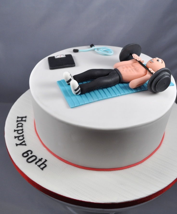 60th Birthday Workout Themed Cake Birthday Cake Photos